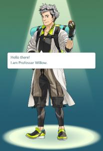 Image of Professor Willow from Pokemon Go Tutorial
